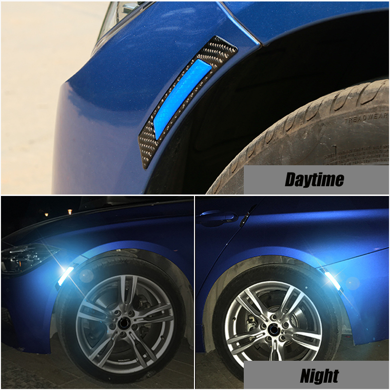 2x Car Wheel Rim <font><b>Eyebrow</b></font> Reflective Warning Strip Stickers Exterior Accessories For <font><b>BMW</b></font> E39 E36 E46 E90 E60 <font><b>E30</b></font> E53 E70 image