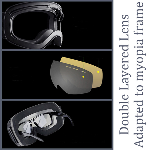 2019 Brand Ski Goggles Men Women Snowboard Goggles Glasses for Skiing UV400 Protection Snow Skiing Glasses Anti-fog Ski Mask Multan