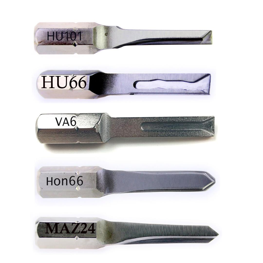 5PCS Strong Key for Car,HU66 HU101 MAZ24 VA6 HON66 Power Key Locksmith Tools for Car,Car Repair Tools Pick Tool Key