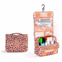 travel cosmetic bag Women Makeup Bags Toiletries Organizer Waterproof Storage Neceser Hanging Bathroom Wash Bag(China)