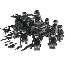 Military Special Forces Soldiers Bricks Figures Guns Weapons Compatible Armed SWAT Building Blocks Kids Toys