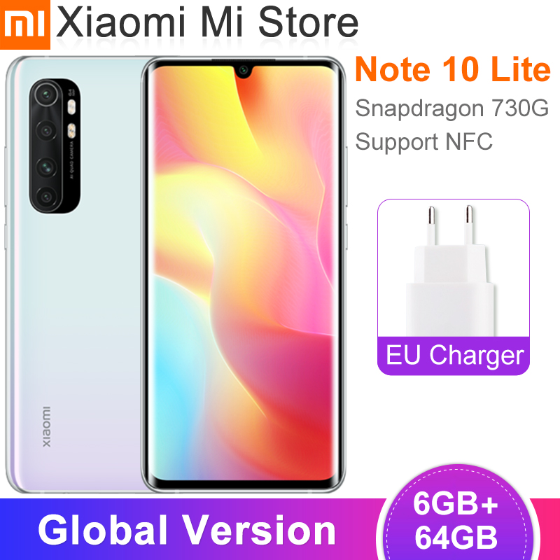 Global Version Xiaomi Mi Note 10 Lite Smartphone 6GB 64GB Snapdragon 730G 6.47 inch Screen 64MP Camera 5260mAh Battery NFC