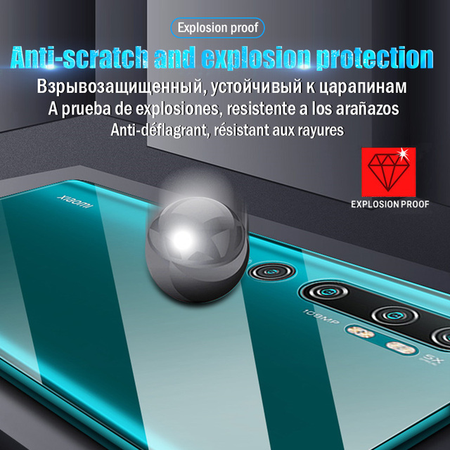 Screen Protector For Xiaomi Poco M3 X3 NFC F1 F2 Pro For Mi Note 10 Pro A3 A2 A1 8 9 9T 10T Lite Mix 3 Hydrogel Front Back Film 2