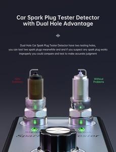 Image 3 - جهاز فحص شرارة الدراجة النارية, أداة تشخيص ولفائف الإشعال ذات الفتحات المزدوجة القابلة للتعديل ، وكاشف شرارة