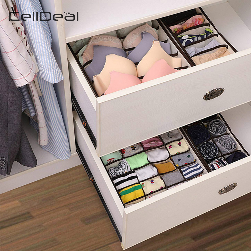 Drawer Divider Closet-Organizer Bra Underwear Ties Socks Storage-Boxes Multi-Size Foldable title=