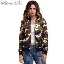 2019 Fashion Windbreaker Jacket Women Coats Long Sleeve Basic Jackets Bomber Womens Camouflage Female Outwear
