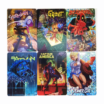 19-21PCS/set Marvel DC No.4 Toys Hobbies Hobby Collectibles Game Collection Anime Cards