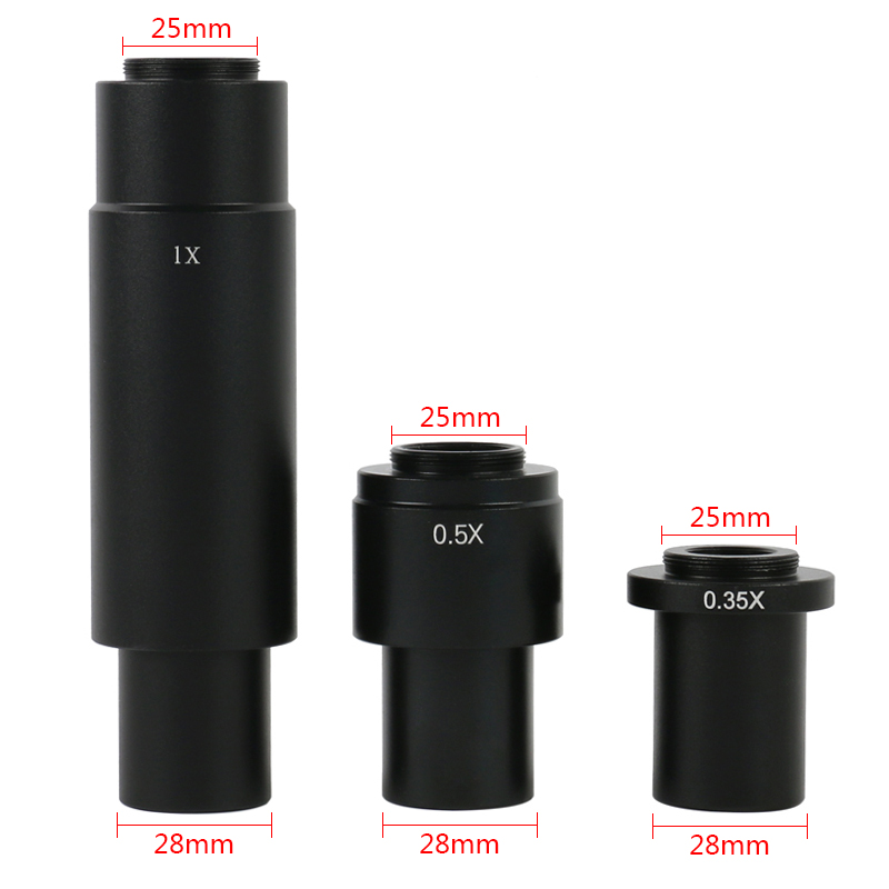 0.35X 0.5X 1X C-Mount Auxiliary Eyepiece Adapter For CCD Video Microscope Camera 10A Zoom Lens