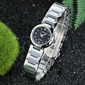 Image 3 - John Boss Simple Design Swiss Move Sapphir Cyrstal Watch Woman Diamond Cutting Buzel Design Water Resist Tungsten Steel Watch