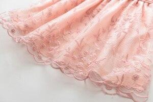 Image 4 - אהבה DD & MM בנות שמלות 2020 קיץ ילדים חדשים ללבוש בנות רשת מתוק פרח נסיכת שמלה