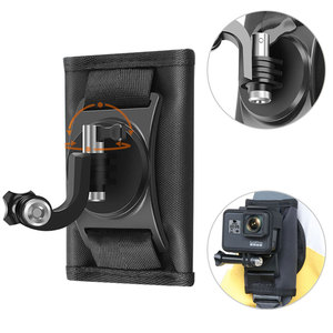 Image 2 - DJI OSMO ACTION Backpack Clip Fixed Soulder Strap For GoPro Hero 9/8/7/6/5/4 Sports Camera Gopro Accessories Stand Mount Adapter