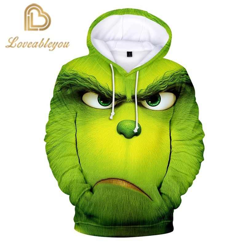 Movie De Grinch 3D Hoodies Fashion Casual Mannen Vrouwen Hoodie Streetwear Populaire Hoodies Sweatshirts Hoodies Tops