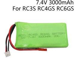 7.4V 3000mah 2S 20C Lipo Battery JST Plug For Radiolink RC3S RC4GS RC6GS Transmitter Li-Polymer 7.4 v 3000mAh lipo Battery 1pcs