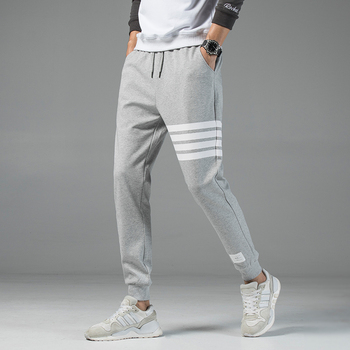 Autumn new men's casual sweatpants solid high street trousers men joggers oversize brand high quality men's pants 4xl