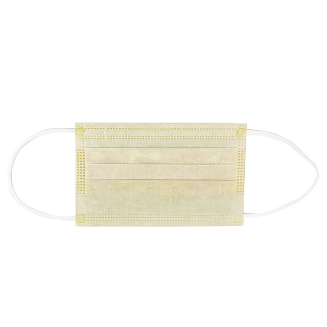 Children Generic Individual Package Disposable Yellow Protect Mouth Mask Outdoor Dustproof Windbreak 3 Layer Face Mask Masque 5 5