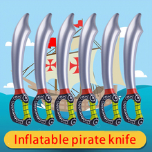 New Pvc Inflatable Outdoor Fun Game Playing Birthday Party Favors Pirate Toy Sword Stage Props Inflated Children Cosplay Random