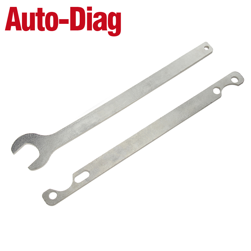 2pcs Removal Tool Kit For BMW Fan Clutch Nut 32mm Wrench and Water Pump Holder
