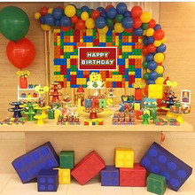 New Lego Party Disposable Tableware Sets Kid Boys Birthday Decorations Paper Plate/Cup/Straw/Tablecloth Baby Shower Suppli