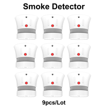CPVan 9pcs/Lot mini fire detector smoke alarm fire alarm detector 5-Year Battery Life EN14604 Listed rookmelder 2019 new
