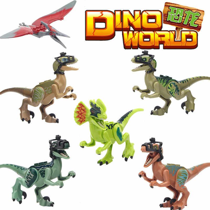 Singola Vendita Blocchi di Costruzione Jurassic T-Rex Tirannosauri Dinosauro Dinosauri Playmobil Giocattoli Per Bambini