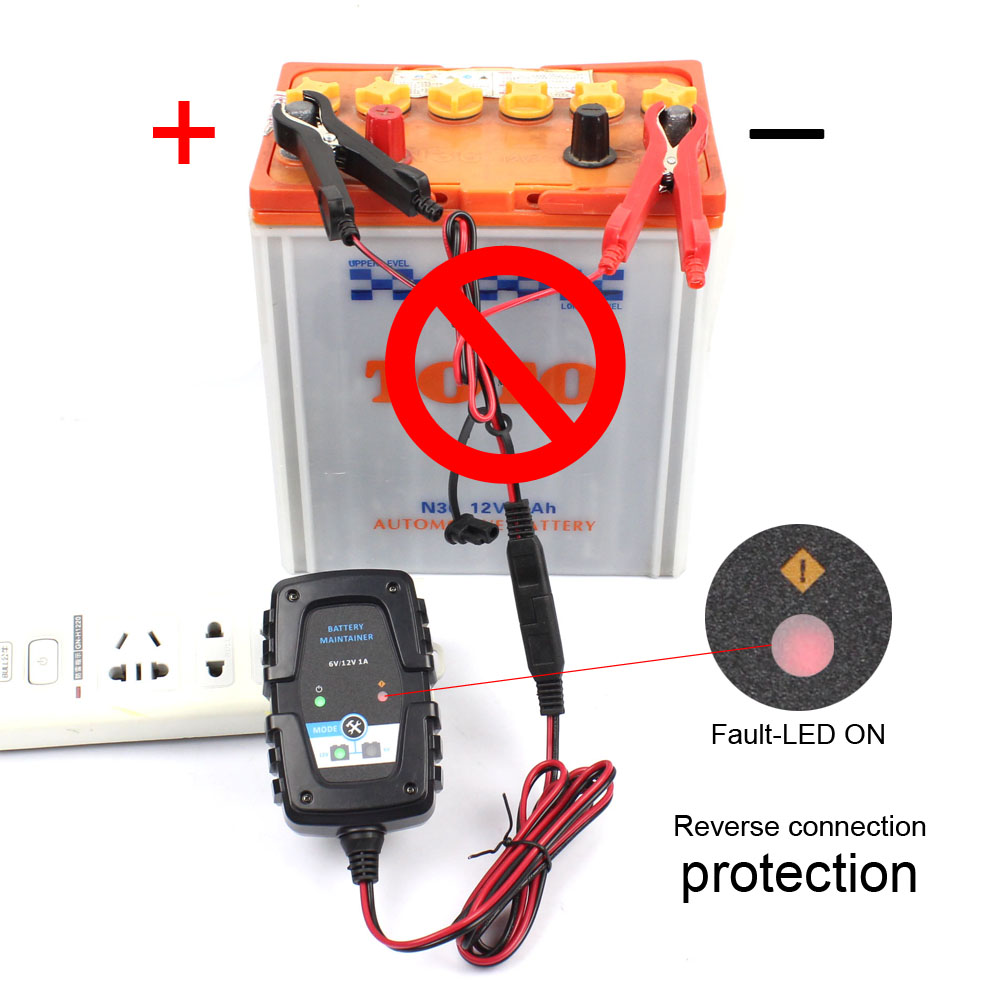 Automotive Smart Battery Charger//Maintainer SUV Boat Float Charging for Car 6V 12V 750mA Trickle Charger ATV Motorcycle RV Lawn Mower Battery Float Charger with Battery Voltage Tester