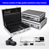 Aluminum alloy tool case portable cipher box Tool safe File box Hardware Equipment Box Multi function Large size with lock