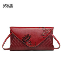 2019 New Cowhide women Genuine Leather bag Embossed fashion Weave texture luxury handbags designer shoulder Envelope