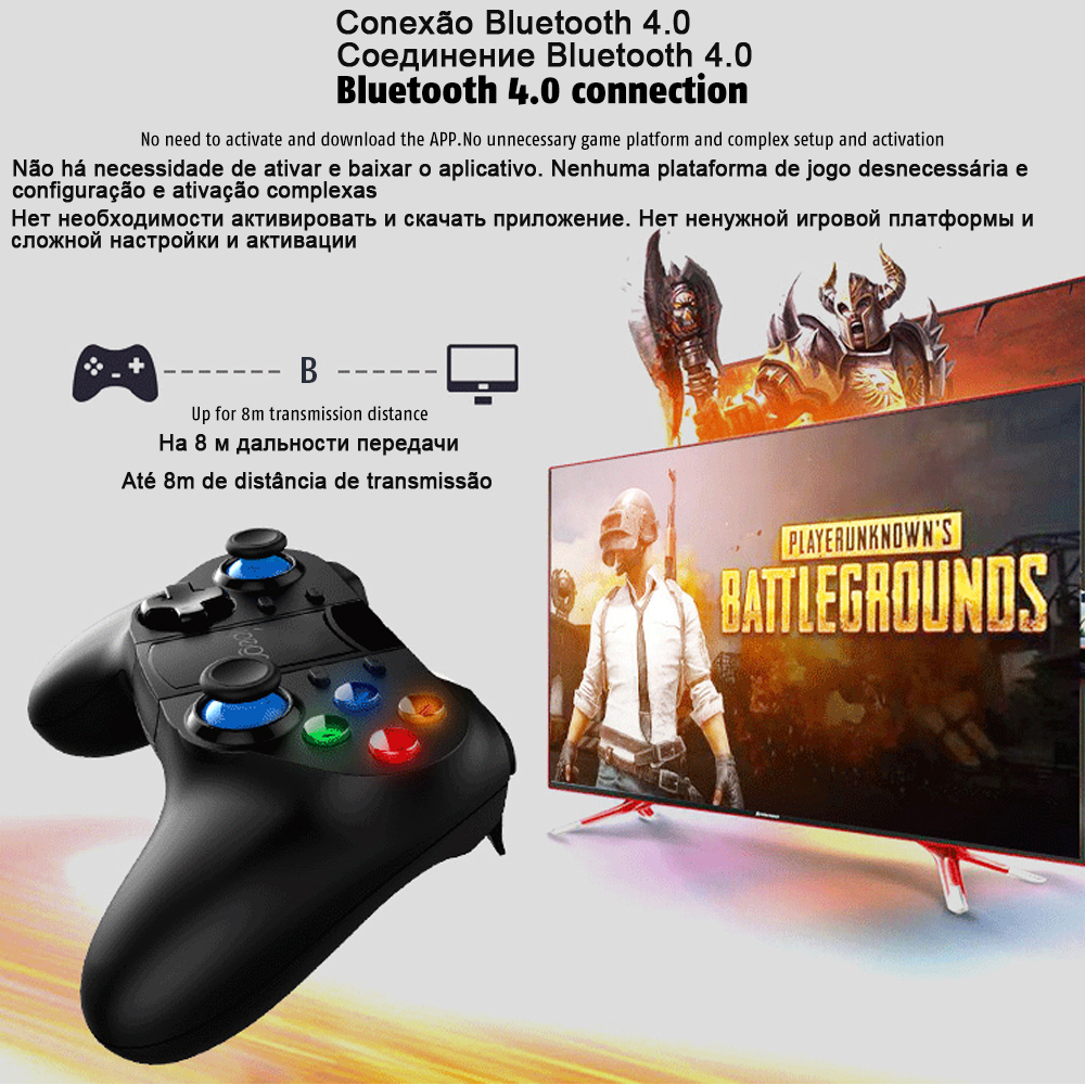 Bluetooth Gamepad Trigger Pubg Controller Mobile Joystick For Phone Android iPhone Smart TV Box Game Pad Console Control PC pabg