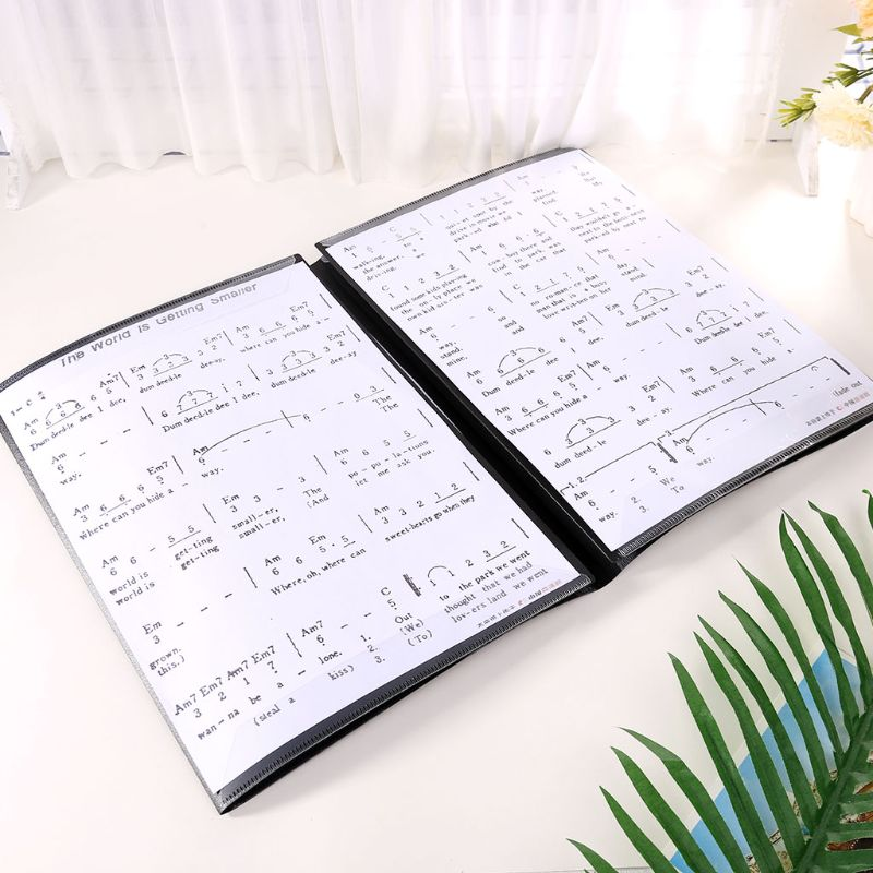 Sheet Document Folder Expanded Size A4 Piano Score Music Accessories Organizer U1JA