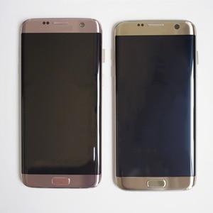 Image 2 - מקורי סופר AMOLED LCD מסך עבור סמסונג גלקסי S7 קצה מסך G935 SM G935F LCD תצוגת מגע Digitizer עצרת עם מסגרת