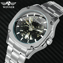 WINNER Classic Business Automatic Mechanical Watch Men Stain