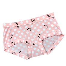 Autumn Ultra-thin Ice Silk Panties Cartoon Printed Low Waist Briefs For Women 2019 New Explosion Solid Colors
