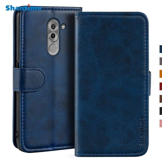 Sprawa dla Huawei Honor 6X przypadku magnetyczny portfel skórzany pokrowiec dla Huawei Honor GR5 2017 stojak Coque przypadki telefonów