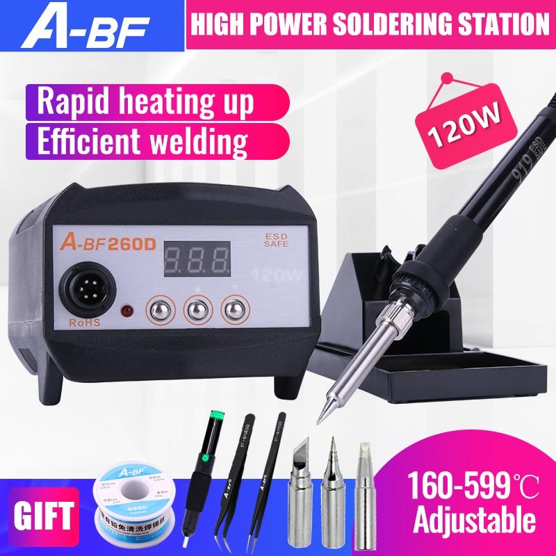 A-BF 260D stacja lutownicza wysokiej częstotliwości wyświetlacz cyfrowy 120W przemysłowe 2 W 1 SPAWARKA z pełnym zestawem narzędzi