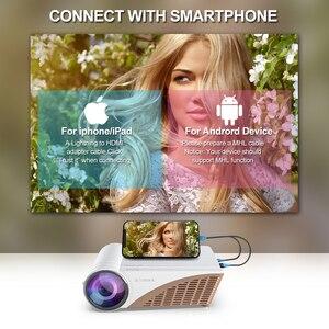 Image 5 - Vivicine 720 1080pスマート安いhd ledホームシアタービデオプロジェクタービーマー、V300 アップグレードV600 ポータブル映画proyector