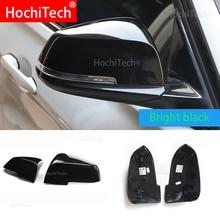 Substituir o original capa de espelho retrovisor do carro brilhante de alta qualidade preto capa de espelho para bmw série 1 f20 f21 2012-2018