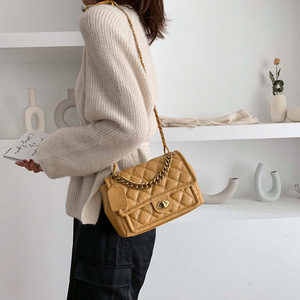 Image 4 - Luxury Handbags PU Leather Chain Designer Crossbody Bags for Women 2019 Small Shoulder Messenger Bag Female Travel Lock Handbags