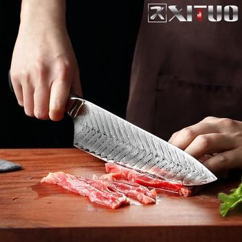 Professional Damascus Chef Knife Gift Set 6