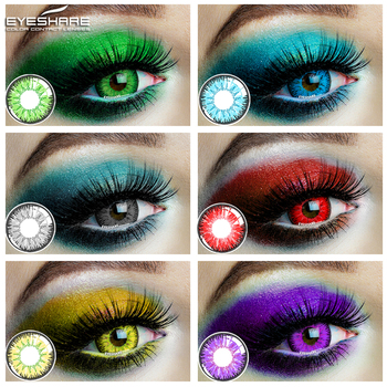 EYESHARE 1 Pair  Beautiful Pupil  Eye Cosmetic Colorful Contact Lenses Halloween Cosplay Lenses Crazy Lens for Eyes 1