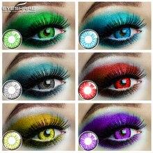 EYESHARE – lentilles de Contact colorées, 1 paire, belle cosmétique pour les yeux des élèves, Halloween Cosplay, lentilles folles pour les yeux