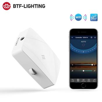 DC5-24V Mini Wifi WS2811 WS2812B SK6812 RGB LED Strip Light Controller Alexa Google Phone Music Voice IOS Android APP 2 Output