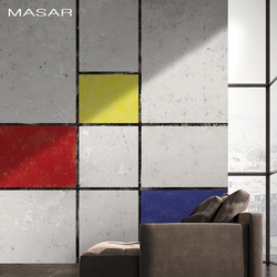 MASAR China Creative Design Mural Wallpapers Mondrian Design Elements Wallpapers Large Space Background Wall Paper Customizable