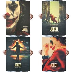 DLKKLB The Joker DC Movie Batman Superhero Clown Poster Vintage 51X36cm Kraft Paper Wall Sticker Home Decorative Painting(China)