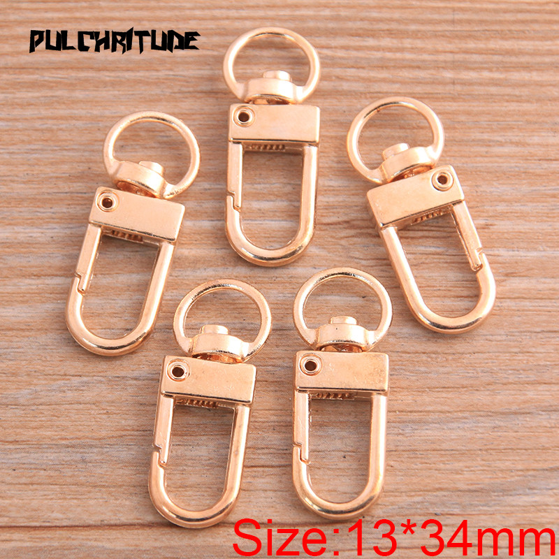8pcs 13*34mm 2020 New Two Color Rhodium Plated Jewelry Findings,Lobster Clasp Hooks For Necklace&Bracelet Chain DIY 4