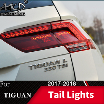 Tail Lamp For Car VW Tiguan 2017-2018 Tiguan L LED Tail Lights Fog Lights Daytime Running Lights DRL Tuning Cars Car Accessories