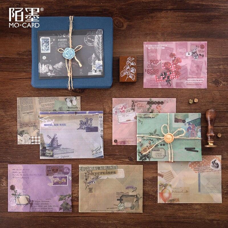 3 Pcs/lot Vintage Envelope Translucent Sulfuric Acid Paper Envelope Stationary School Students Supplies Retro Paper Envelope