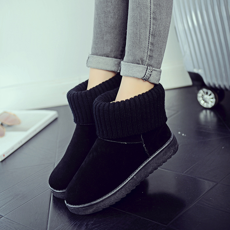 Women's new snow boots winter fashion wild classic women's shoes simple warm non-slip waterproof wool shoes ladies ankle boots 75