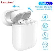 Levttax caixa de carregador sem fio, para apple airpods, bluetooth, fone de ouvido, caixa de carregamento sem fio