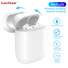 Levttax qi 무선 충전기 애플 airpods 블루투스 이어폰 표준 airpods 무선 충전 수신기 케이스 커버
