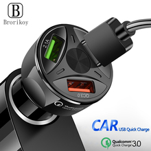 3 USB Car-Charger Quick Charger 3.0 2.0 Fast Car Charging